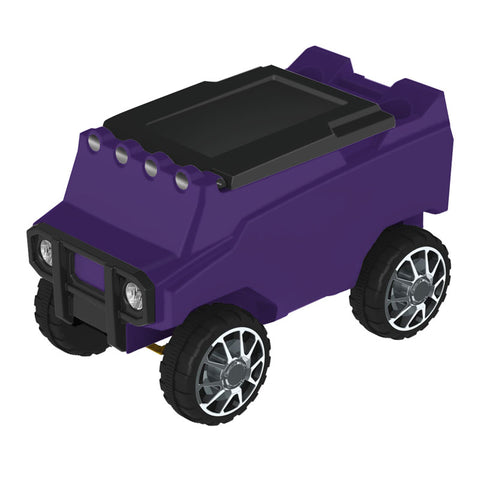 Remote Control Cooler with Bluetooth Purple Body & Black Top