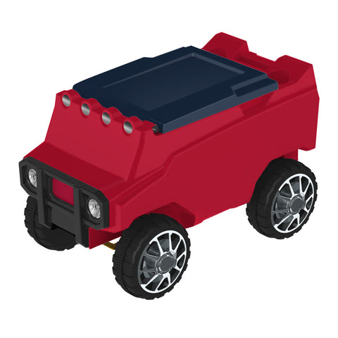 Remote Control Cooler w/ Bluetooth Speakers in Red & Navy