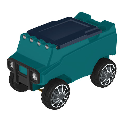 Remote Control Cooler with Bluetooth Teal Body & Navy Top