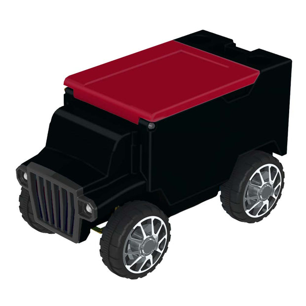 Remote Control Cooler with Bluetooth Black Body & Red Top
