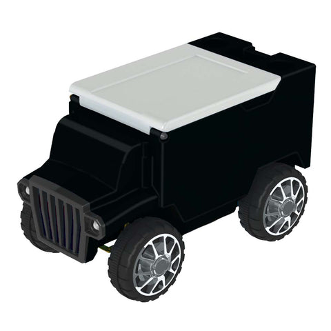 Black & White RC Truck Cooler w/ Bluetooth Speakers