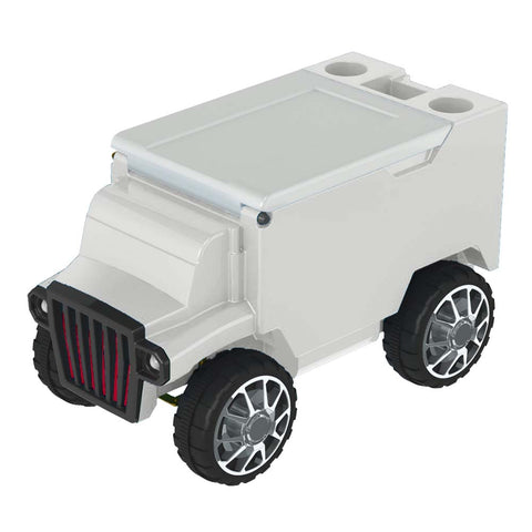 White & White RC Truck Cooler w/ Bluetooth Speakers