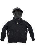 Boys Black Fashion Cotton Jacket with Hood