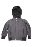 Boys Indigo Fashion Cotton Jacket with Hood