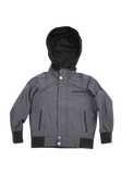 Toddler's Charcoal Fashion Cotton Jacket with Hood
