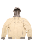 Mens Khaki Fashion Cotton Jacket with Hood