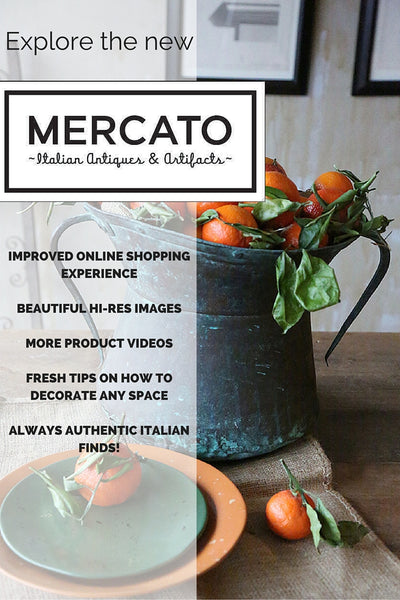 Shop antiques online with the imrpoved Mercato Italian Antiques & Artifacts