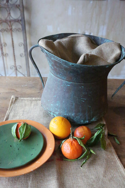 Antique Copper Water Pot DIY Tuscan Home Decor