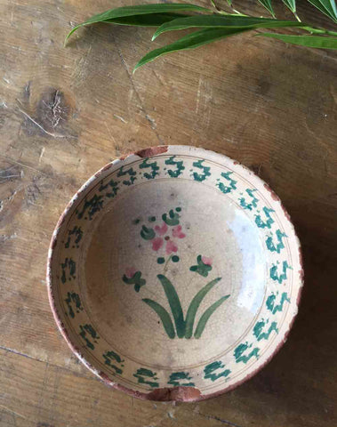 Italian Ceramic Antique Bowl from Southern Italt