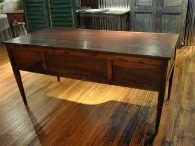Italian Antique Leather Top Desk - Mercato Antiques - 1