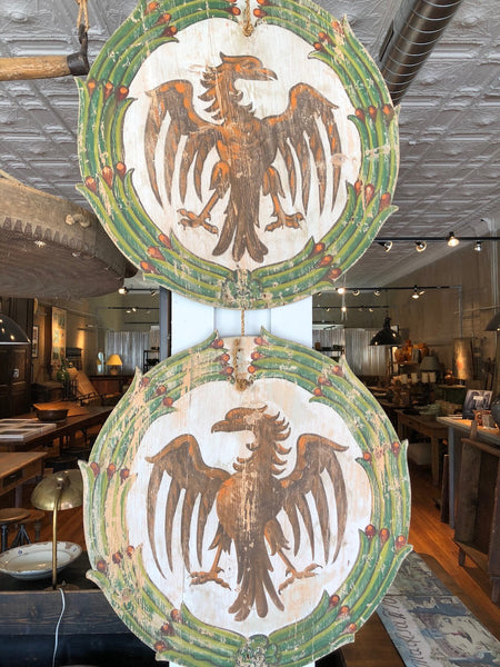 Pair of Italian Wine Festival  Plaques with Eagles- CIrca 1920 Montalcino