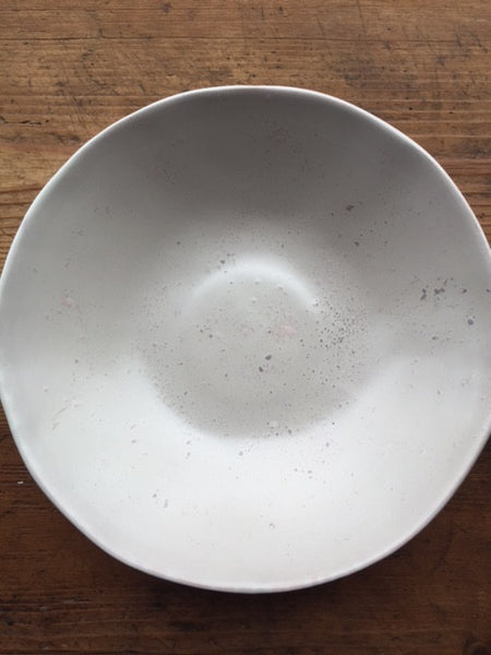 White Gesso Serving Bowl - Small - Mercato Antiques - 1