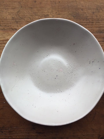 White Gesso Serving Bowl - Small