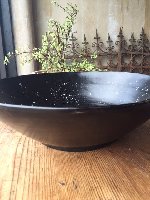 Slate Black Serving Bowl - Large - Mercato Antiques - 1