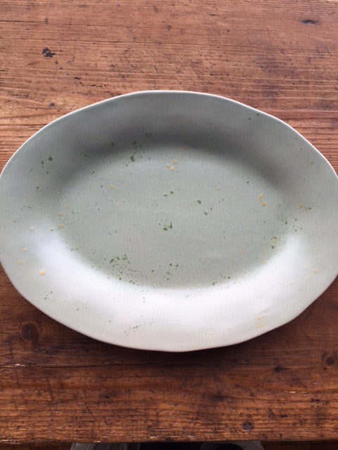 Sage Green Serving Platter - Mercato Antiques - 1
