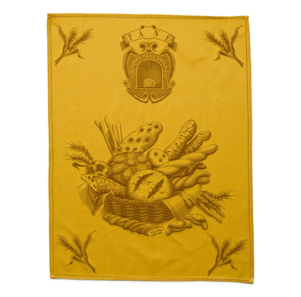 Italian Dish Towel - Bread - Mercato Antiques - 1
