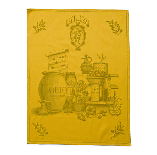 Italian Dish Towel - Olive Oil - Mercato Antiques - 1