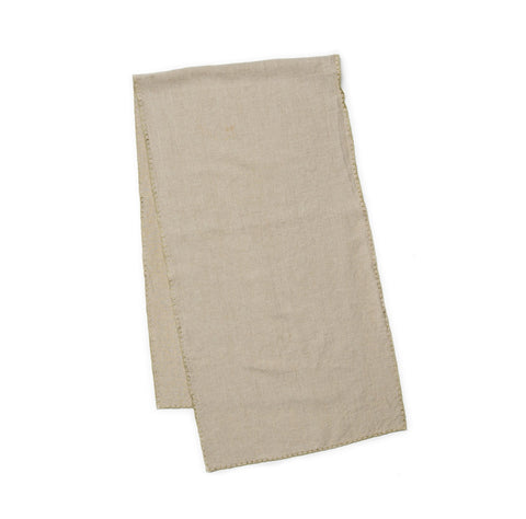 Italian Linen Table Runner - Natural
