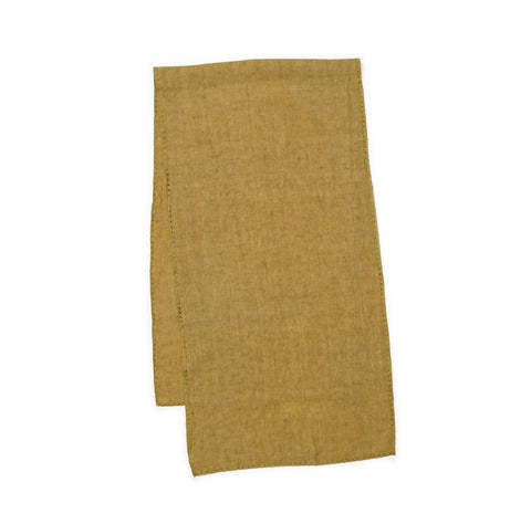 Italian Linen Table Runner - Olive