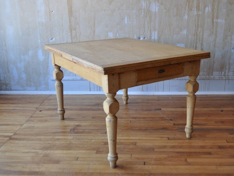 (SOLD) Italian Antique Pine Dining Table (Extends)