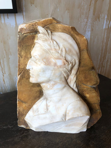 Alabaster Profile of Dante Alghieri