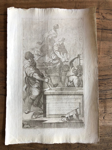 Antique Print- 18th Century Etching
