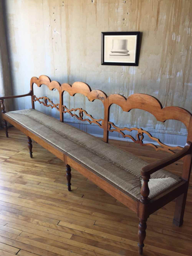 (SOLD) Long Italian Antique Bench