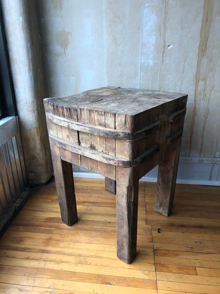 Italian Antique Butcher Block Table