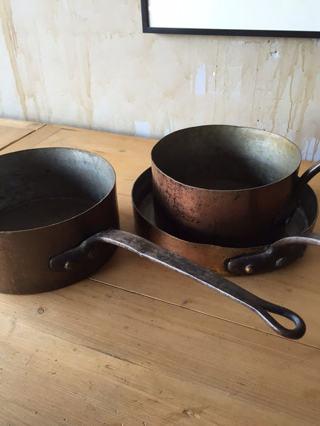 Antique Copper Cookware Set - Mercato Antiques - 1