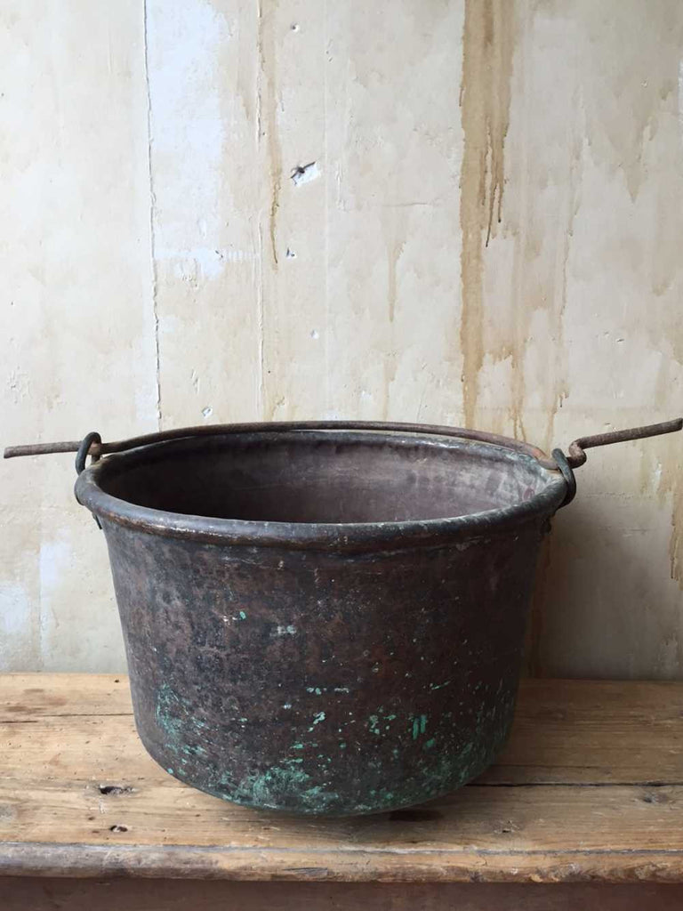 Large Tuscan Antique Cooking Pot - Mercato Antiques - 1