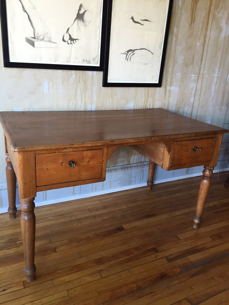 Tuscan Antique Desk (SOLD) - Mercato Antiques - 1