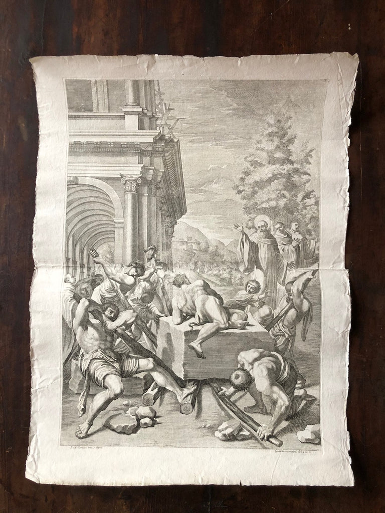 (SOLD) Antique Print- 18th Century Etching