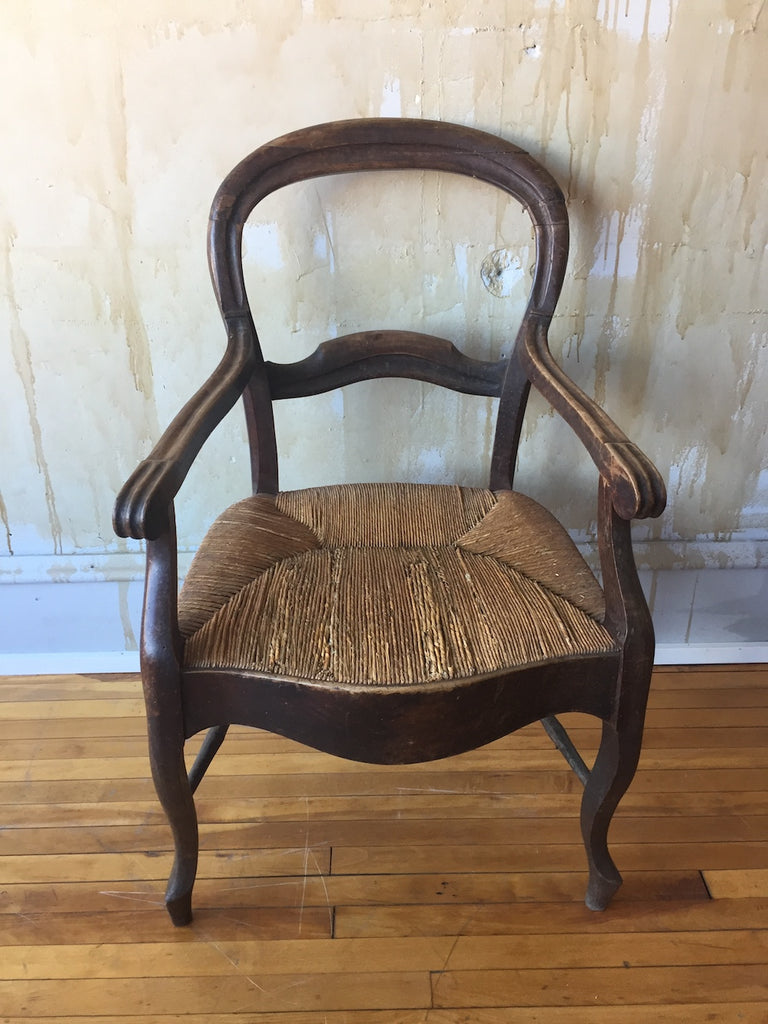 French Antique Walnut Arm Chair