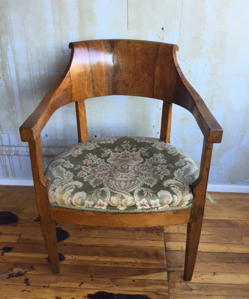 Italian Antique Walnut Chair- 3 Available - Mercato Antiques - 1