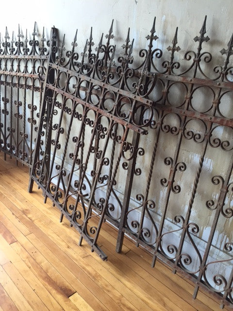 Italian Antique Wrought Iron Fence Sold