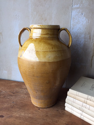 Antique Glazed Terracotta Jar- 18""