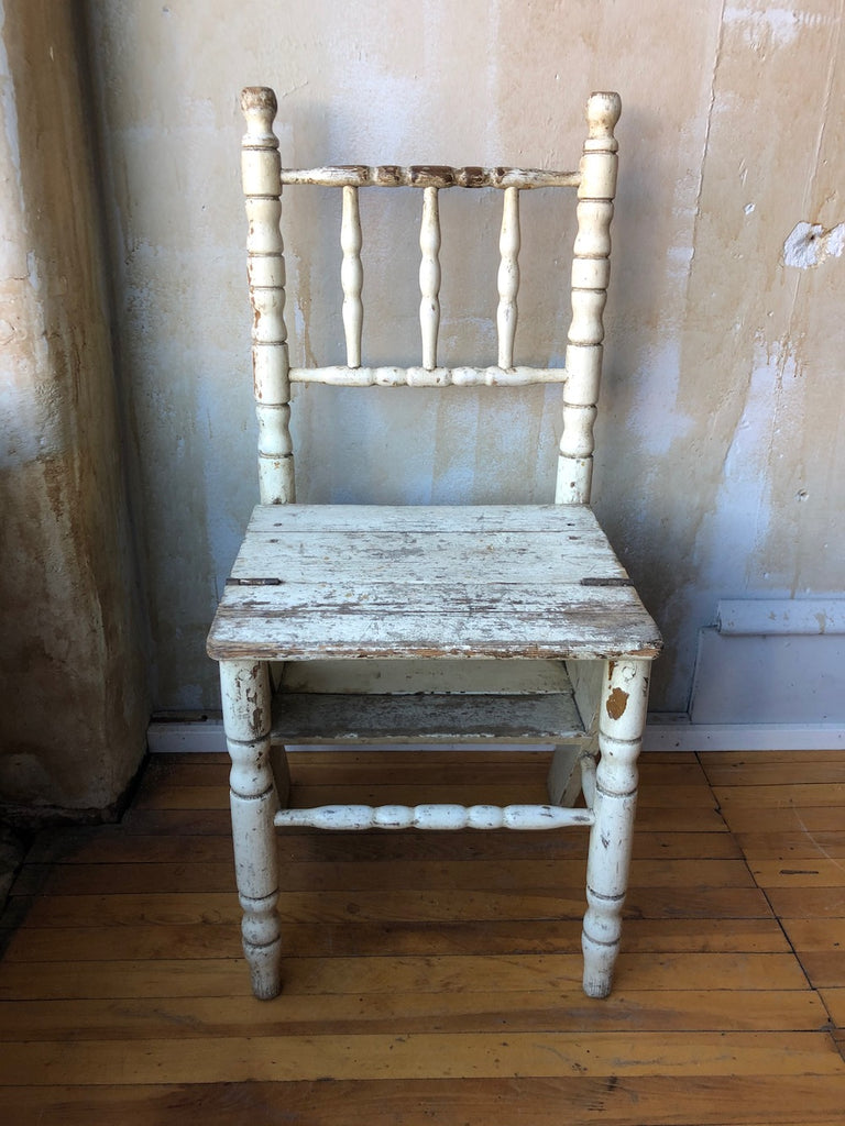 Painted Library Chair Ladder