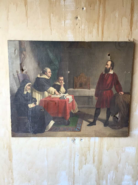 Painting of The Trial of Galileo Galilei - Mercato Antiques - 1