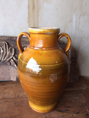 Glazed Antique Terracotta Jar- 14.75""