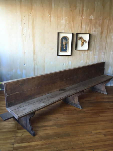 Italian Antique Church Pew Sold