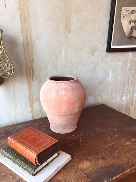 "Small Spanish Terracotta Pot- 12.5"" - Mercato Antiques - 1"