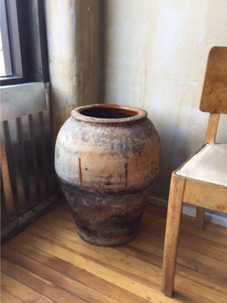 "Rustic Spanish Antique Oil Jar- 22.5"" - Mercato Antiques - 1"