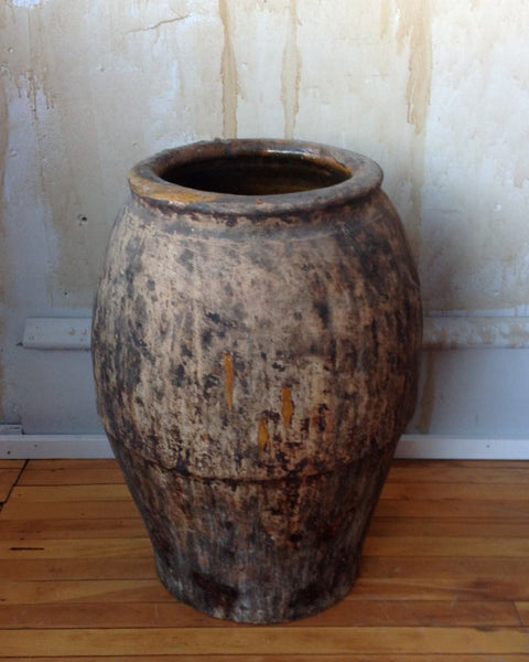 "Spanish Oil Jar 23"" - Mercato Antiques - 1"