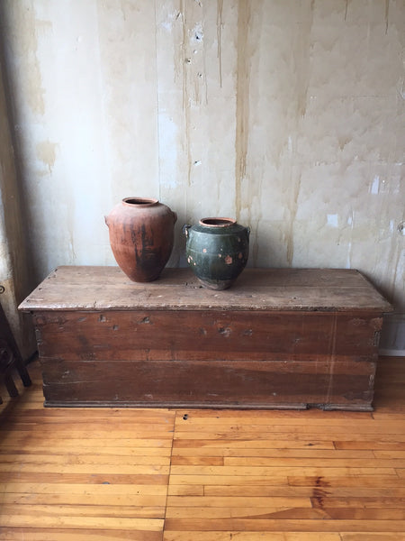 Rustic Spanish Antique Trunk (SOLD) - Mercato Antiques - 1