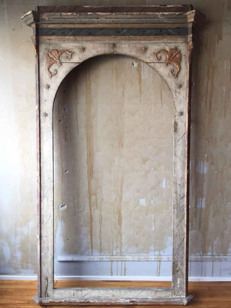 "Tall Italian Antique Frame from Private Chapel- 99""H - Mercato Antiques - 1"