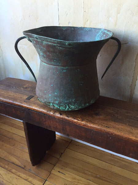 Antique Copper Water Pot From Italy - Mercato Antiques - 1