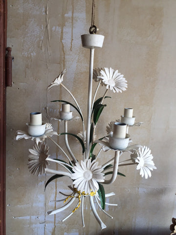Vintage Tole Chandelier - Daisy