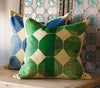 Blue Octagon Throw Pillow - Mercato Antiques - 3