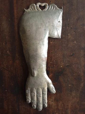 Large Silverplated Ex Voto Arm
