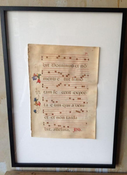 17th Century Sacred Music On Parchment - Mercato Antiques - 1